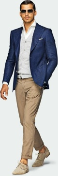 Suitsupply - Blue Jacket - Washington Half