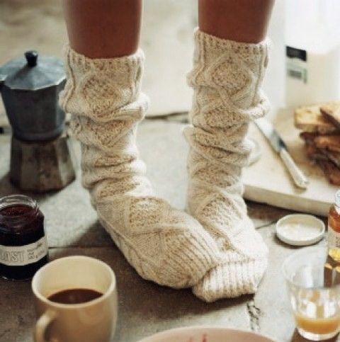 socks and coffee