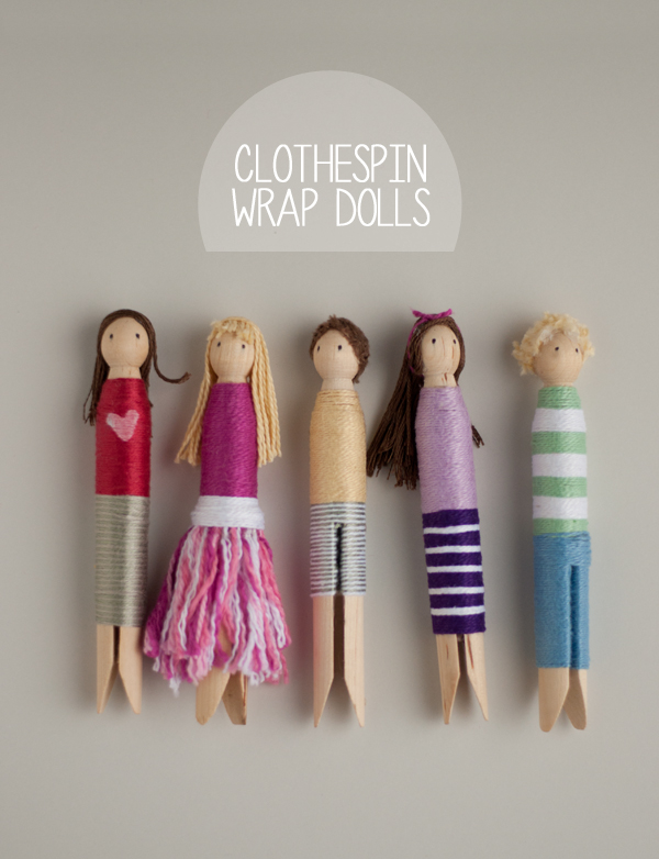 Clothespin Wrap Dolls par This heart of mine