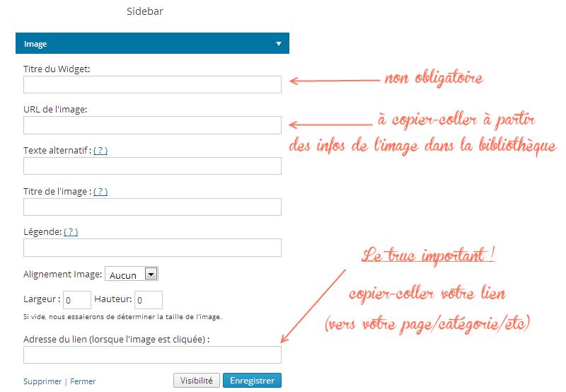 menu image widget