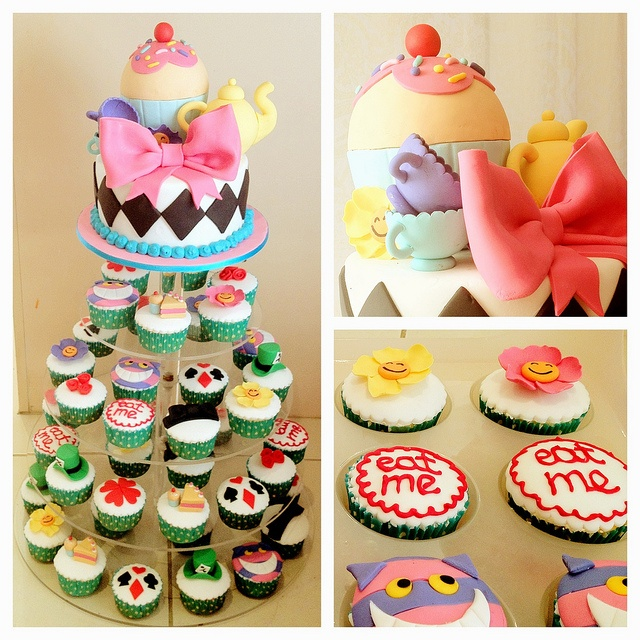 Alice cakes via flickr