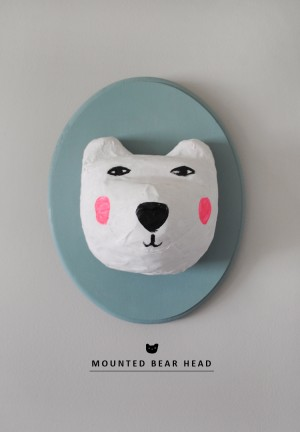 Mounted Bear Head par Mermag