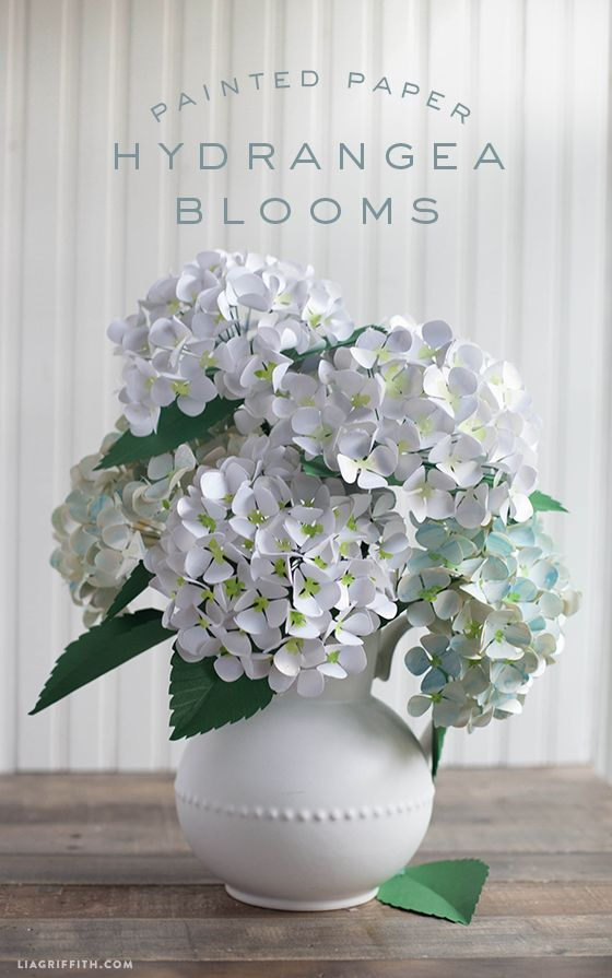 les magnifiques hortensias (en papier) de lia | l'heureuse imparfaite