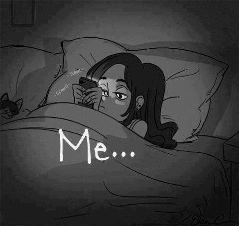 me at night