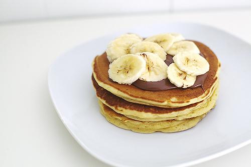 pancake banana choc