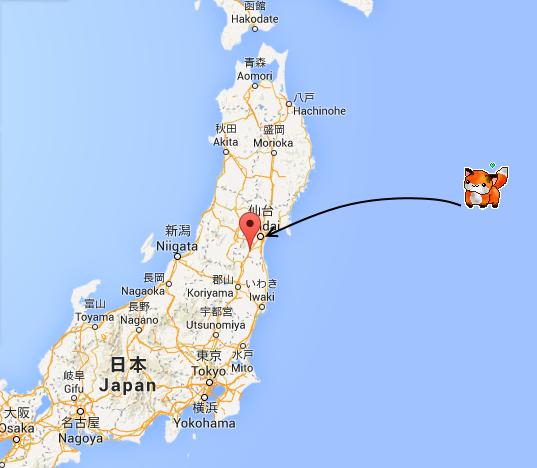 localisation Miyagi japon